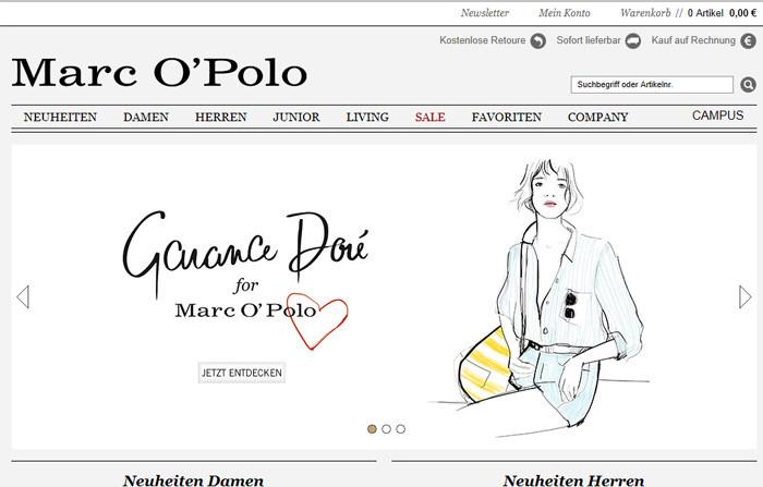 Marc O Polo Webseite